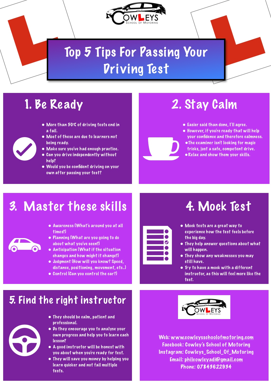 Top Tips for your Driving Test